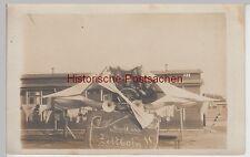 (F10733) Orig. Foto 1.WK Truppenübungsplatz Zeithain, aus Bettlaken gebautes Flu