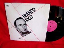 FRANCO RICCI Vol. 1 LP 1989 ITALY MINT-