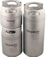 Torpedo Ball Lock Corny Keg (Stackable Kegs) homebrew stainless steel ball lock