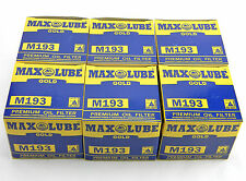 LOT OF 6 NEW MAX LUBE GOLD M193 ENGINE OIL FILTERS MO-193 FL-408 PH3816 51381