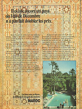 Publicité 1971  MAROC vacances voyages
