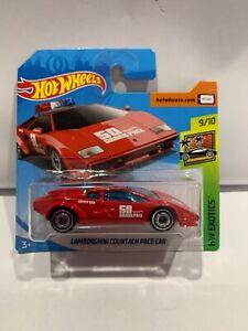 Hot Wheels Lamborghini Countach Pace Car Red Short Card