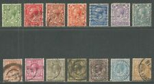 Great Britain 1912-13 King George V wmk royal cypher (159-72) used