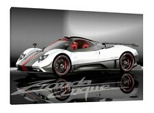 Pagani Zonda Cinque - 30x20 Inch Canvas - Framed Picture Print Wall Art