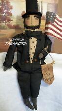 Pattern,Primitive dolls,Americana Abe Lincoln,24 in. by Dumplinragamuffin