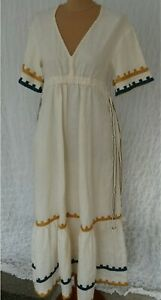 Zara Studio Limited Edition Embroidered Dress Size Small