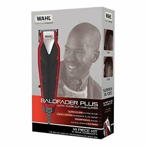 Wahl Baldfader Plus Ultra Close Cut Hair Clipper 14 Piece Kit Zero Overlap Blade