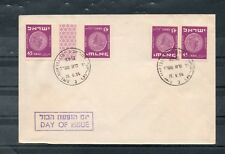 Israel Scott #59 Coins Tete Beche Pair and Gutter Pair on FDC!!