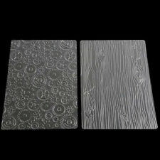 6pcs Cookie Cake Transparent Texture Embossing Decor Mat Fondant Mold LA
