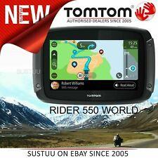 TomTom Rider 550 World Motorcycle GPS SatNav│Lifetime World Maps + Speed Cameras
