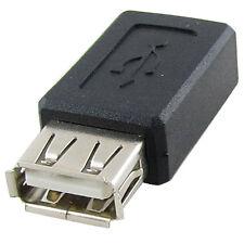 USB 2.0 A Female to Mini USB B 5 Pin Female Adapter Converter Black New