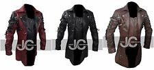 STEAMPUNK MENS GOTHIC LEATHER TRENCH COAT