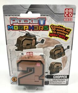 Pocket Morphers Chopper 6875 By Emco Transforming Kid's Toy New 6Yrs+