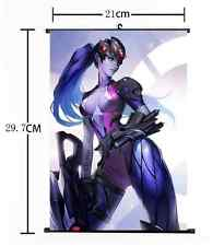 Hot Anime Blizzard Game Overwatch Cool Widowmaker Home Decor Poster Wall Scroll
