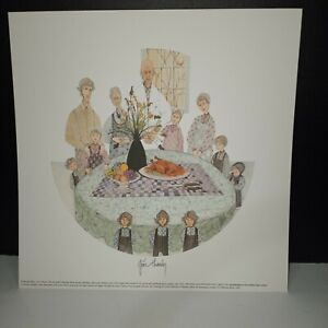 RARE P Buckley Moss GIVE THANKS 1994 Print MEMBERS ONLY PRINT