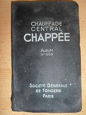 catalogue chauffage - chaudière - fourneaux - CHAPPEE ( ref 18 )