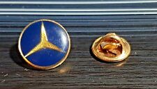 MERCEDES Benz Logo Pin Blu Golden SMALTATA Francia-dimensioni 16mm