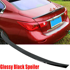 FOR 2014-2020 INFINITI Q50 JDM ABS PAINTED GLOSS BLACK TRUNK LID SPOILER WING