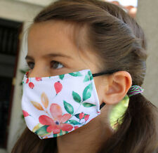 623, KIDS, Orange Flowers, Face Cover, Face mask, REUSABLE