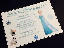 Frozen Elsa And Olaf Birthday Party  Invitation - All Wording Customized