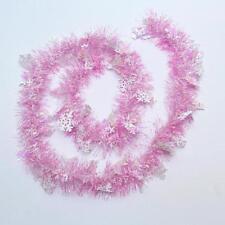 Christmas Snowflake Tinsel Ribbon Garland Tree Decor Ornaments Home Party Supply