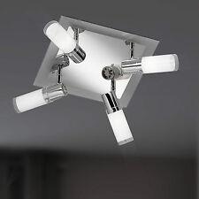 Wofi Deckenleuchte Avon 6-flg Nickel Glas weiß gewischt E14 Fassung 54 Watt Spot
