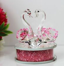 Crystal Cut Pink Twin SwarvoskiElement Swan Valentin'sDay X-Mas Gift Box