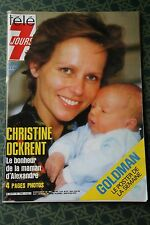 TELE 7 JOURS N°1348 MARS 86 / CHRISTINE OCKRENT POSTER DE GOLDMAN AVEC CHANSONS