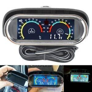 Car Universal 2 in 1 12V/24V LCD Water Temp Voltmeter Voltage Gauge Sensor