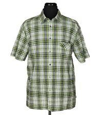 Kuhl Voyante Chemise Manche Courte Vert/Gris / Blanc Plaid Homme Taille XXL 2XL
