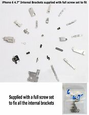 "iPhone 6 (4.7"") Replacement Internal Small Bracket & Clip Part Kit Set + Screws"