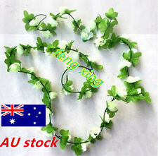 8.5 Ft Fake Silk Rose Flower Artificial Ivy Vines Garland Wall Home Floral Decor