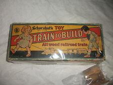Schoenhut Train to Build in Original Box Toy All Wood Railroad Train Schoenhuts