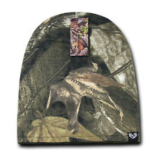 Camo Mossy Olive Reversible Knit Short Hunting Oak Beanie Winter Warm Skull Hat