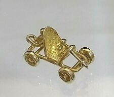 Vintage 9ct Gold Go Kart Charm / Pendant Rare Hallmarked (not filled or plated)