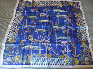 """HERMES SILK SCARF-""""LES BOLIDES'' BRAND NEW"""