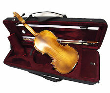 New Antique Style 4/4 Hand-Made Violin +Bow +Rosin +String +Case <Limited>