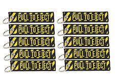 10 PULL TO EJECT Key Chain aviation atv utv motorcycle pilot crew tag lock 4x rv
