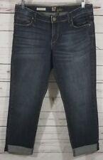 Kut From The Kloth Catherine Boyfriend Blue Jeans Women's Size 10 Dark Wash $89