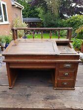 More details for japanese antique bank clerks table top desk