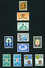 """Ceylon 1954-57 selection of 13 stamps (incl. """"Stamp Centenary"""" set)  m/mint."""