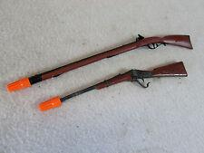 Vintage Marx miniature toy rifle die cast cap gun lot of 2