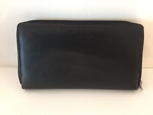 Golunski Genuine Leather Ladies Zip Around Purse/Wallet, Black