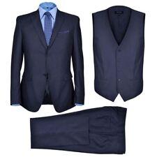 Vidaxl Abbigliamento Business da Uomo in 3 pezzi Blu Marino Taglia 54