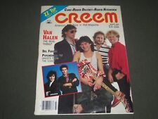 1986 MARCH CREEM MAGAZINE - MUSIC - VAN HALEN FRONT COVER - K 1350