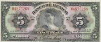 Mexico: $5 Pesos La Gitana 14 de Aug, 1946 Banco de Mexico Circulated Note.