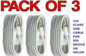 3 x pack usb & Data Sync Cable For Phone 11 pro Xs maxx XR 8plus 7 6 5 iPad 4