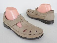 Women SAS Roamer Taupe Nubuck Leather Triapd Comfort Shoes Loafers 9.5S Slim AAA