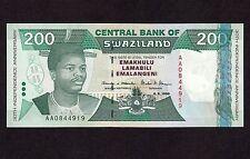 Swaziland, 200 Emalangeni 1998, P-28a * Commemorative * UNC