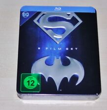 BATMAN SUPERMAN ANTHOLOGY LIMITIERTE GEPRÄGTE TIN BOX STEELBOOK BLU RAY NEU